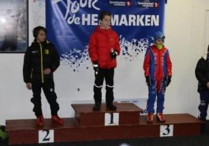 Peder Elias på 3.plass etter første renn.